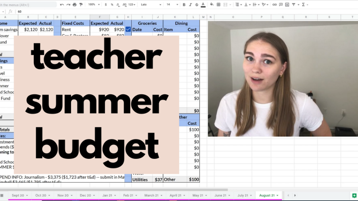 living on my savings over the summer | Budget with Me August 2021 | Teachers TalkMoney